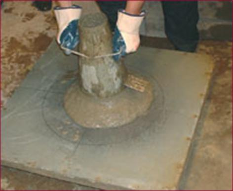 Testing Self Compacting Concrete Slump Flow Test